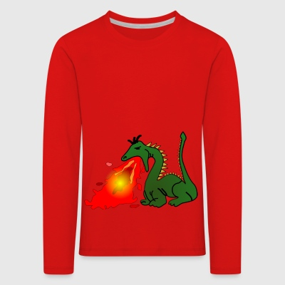 Dragon which spits fire - Kids' Premium Longsleeve Shirt