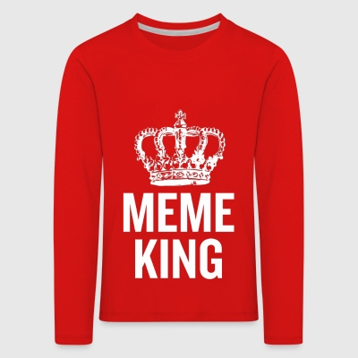 Meme King White - Kids' Premium Longsleeve Shirt