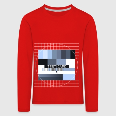 Test picture television screen transmission completion display - Kids' Premium Longsleeve Shirt