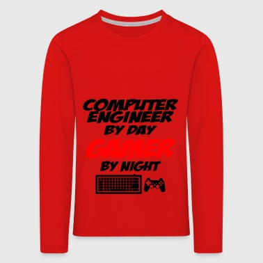 computer engineer gamer - T-shirt manches longues Premium Enfant