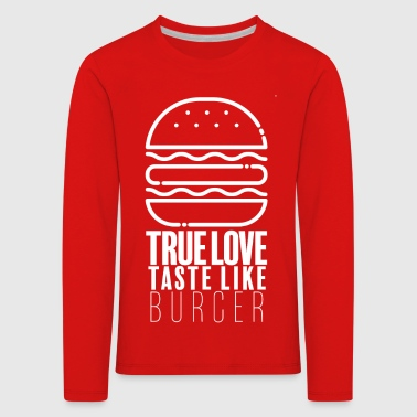 Burger Lover - Kids' Premium Longsleeve Shirt