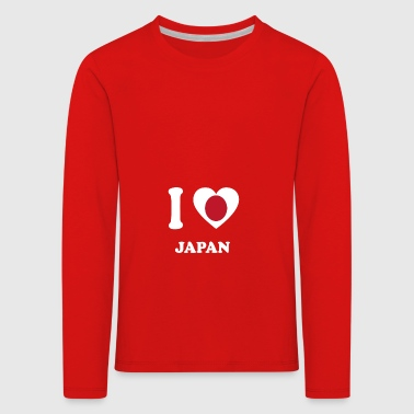 i love home geschenk land JAPAN - Kinder Premium Langarmshirt