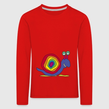 coloré art graffiti oeil arc-tige d'escargot - T-shirt manches longues Premium Enfant