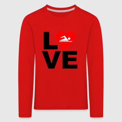 Love swimming - Kids' Premium Longsleeve Shirt