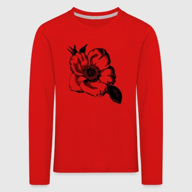 Blüte Illustration - Kinder Premium Langarmshirt