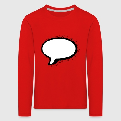 Speech Bubble - Kids' Premium Longsleeve Shirt