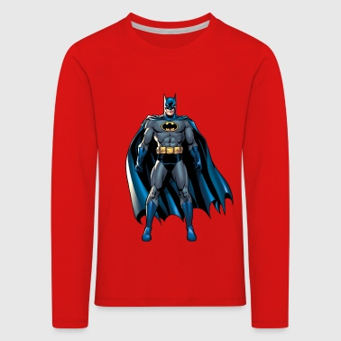 Batman Pose T-Shirt für Kinder, Superhelden T-Shirt  - Kinder Premium Langarmshirt