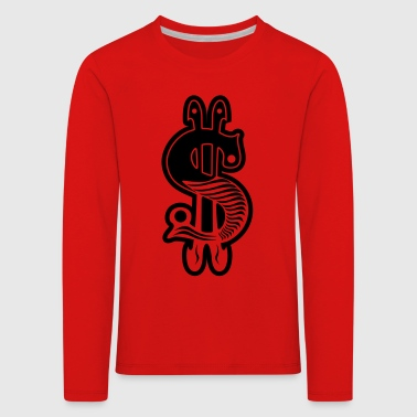 dollar sign - Kids' Premium Longsleeve Shirt