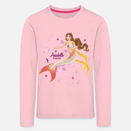 Mermaid Long Sleeve Shirts - Schleich bayala Annabelle - Kids' Premium Longsleeve Shirt rose shadow