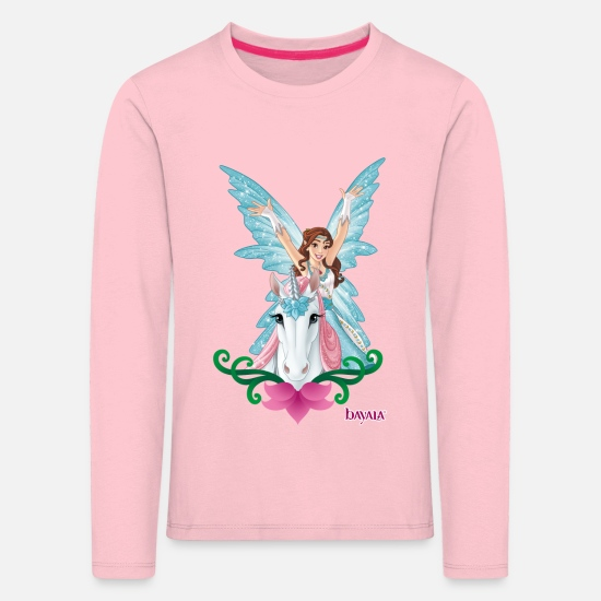 Unicorn Long Sleeve Shirts - Schleich bayala eyela on unicorn - Kids' Premium Longsleeve Shirt rose shadow