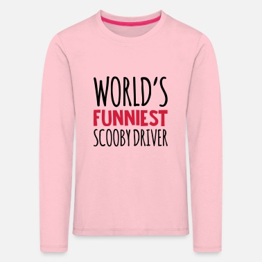 Scooby worlds funniest scooby driver - Kids' Premium Longsleeve Shirt