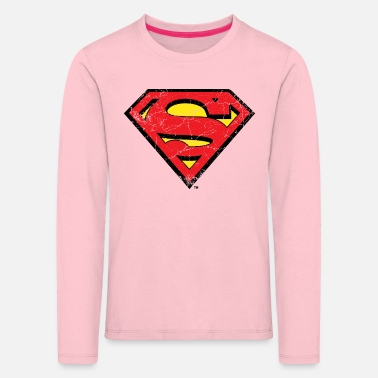 Supergirl DC Comics Superman Logo Used Look - Kinder Premium Langarmshirt