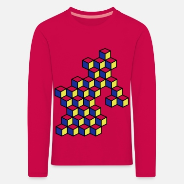Dice and dice in bright colors - Kids' Premium Longsleeve Shirt