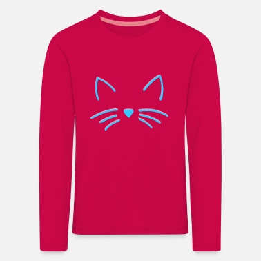 Cat - strokes - drawing - Kids' Premium Longsleeve Shirt