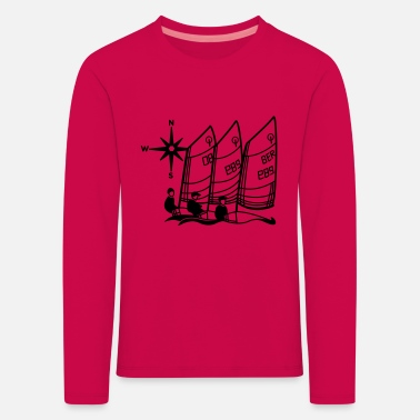 Opti Optimist Sailing Regatta Opti - kids Sailing kids - Kids' Premium Longsleeve Shirt