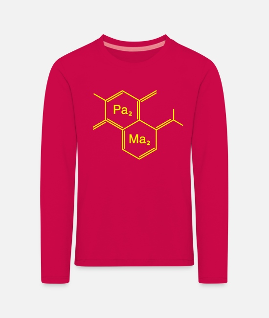 Offspring Papa Biology Long-Sleeved Shirts - chemical papa + mama - Kids' Premium Longsleeve Shirt dark pink