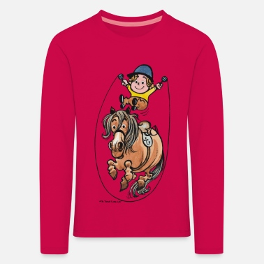 Thelwell Funny Rope Jumping Horse And Rider - Kids' Premium Longsleeve Shirt