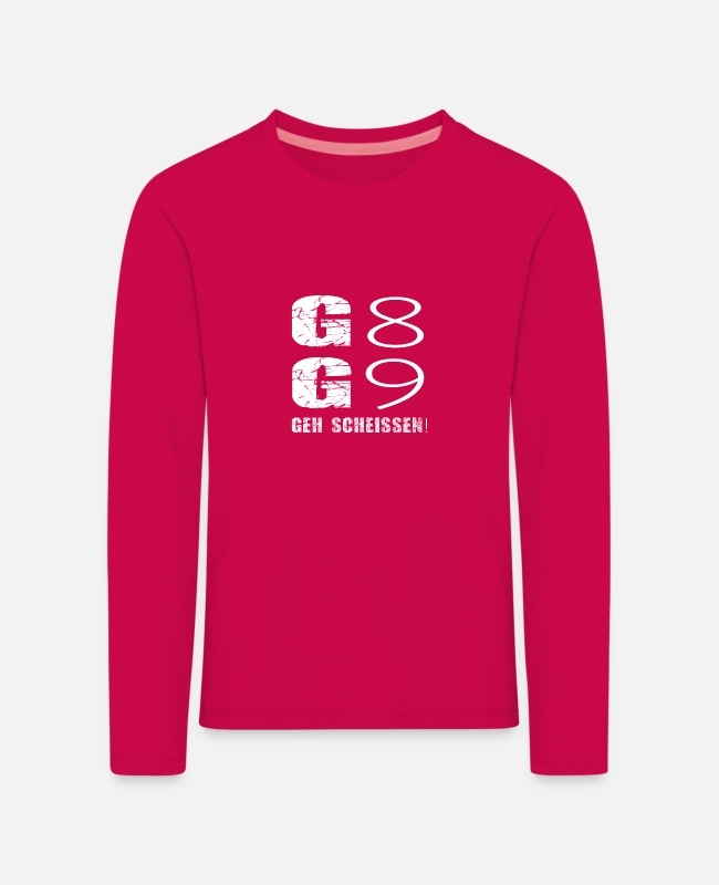 Surveillance State Long-Sleeved Shirts - G8 G9 - Kids' Premium Longsleeve Shirt dark pink