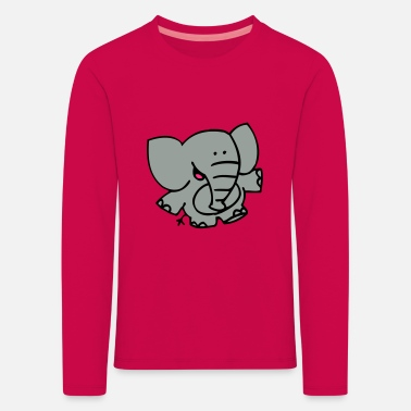 Little Elephant by Cheerful Madness!! - Kids' Premium Longsleeve Shirt