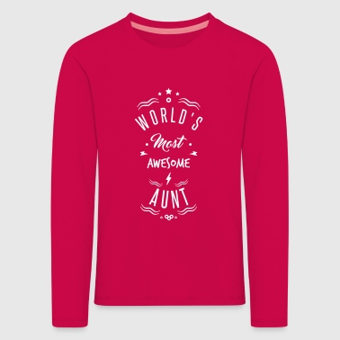 awesome aunt - Kids' Premium Longsleeve Shirt