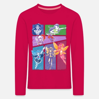Super DC Super Hero Girls Collage Of Heroines - Långärmad premium-T-shirt barn
