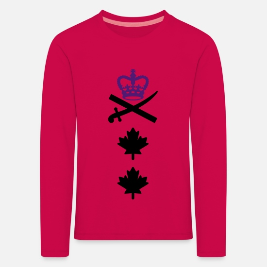Canadian Armed Forces Long sleeve shirts - Major General CANADA Army, Mision Militar ™ - Kids' Premium Longsleeve Shirt dark pink