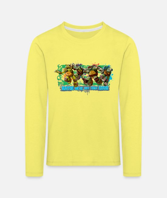 Pizza Long Sleeve Shirts - Teenage Premium Longsleeve TURTLES 'Maybe' - Kids' Premium Longsleeve Shirt yellow