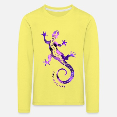 Gecko GECKO abstract violet - Kids' Premium Longsleeve Shirt