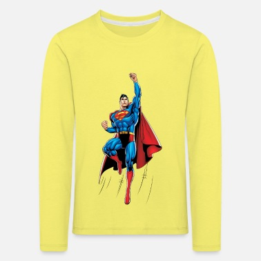 Weihnachten Superman Up and Away Teenager Langarmshirt - Kinder Premium Langarmshirt