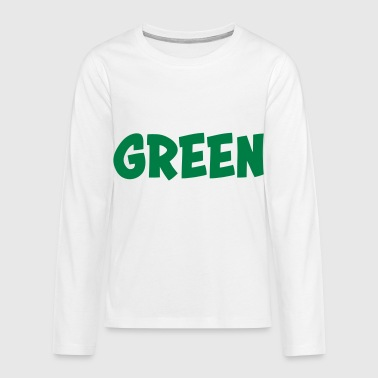 Green - Teenagers' Premium Longsleeve Shirt