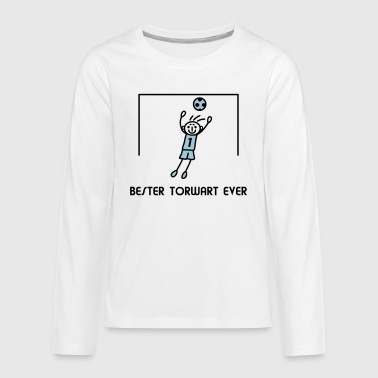 Stick Figure Goalkeeper - V2 - Teenagers' Premium Longsleeve Shirt