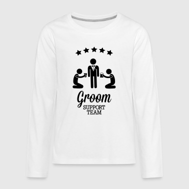 Groom Support Team - Teenager premium T-shirt med lange ærmer