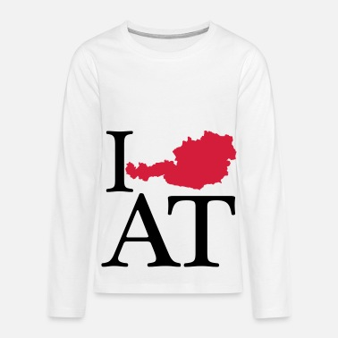 I Love I love AT - I love Austria - Teenagers' Premium Longsleeve Shirt
