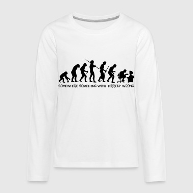 The evolution of man - Teenagers' Premium Longsleeve Shirt