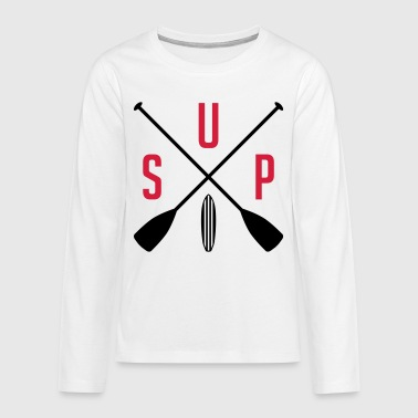 SUP - stand up Paddeling - water sports - sports - Teenagers' Premium Longsleeve Shirt
