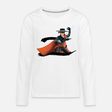 Zorro The Chronicles Masked Hero And Letter Z - Teenage Premium Longsleeve Shirt