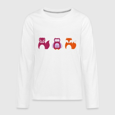 Design for Toddlers | Wildlife in Portrait - Teenagers' Premium Longsleeve Shirt
