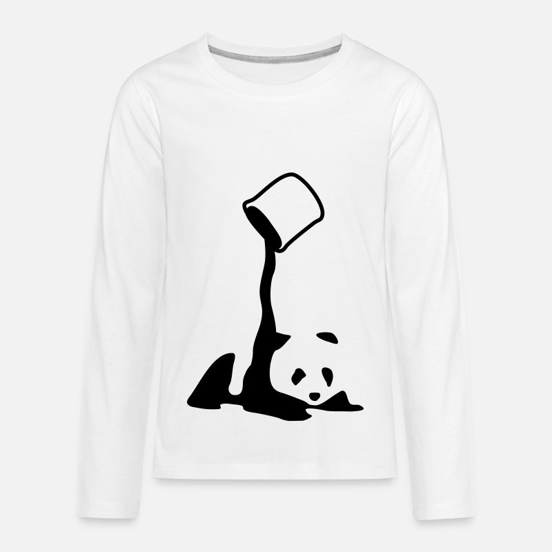 Pandas Long Sleeve Shirts - Panda, panda bear art, artist, colour - Teenage Premium Longsleeve Shirt white