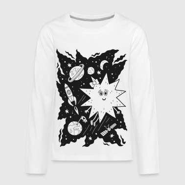 Stella star for coloring - Camiseta de manga larga premium adolescente