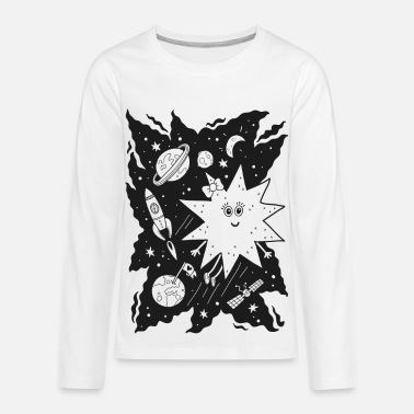 Stella Stella star for coloring - Teenager premium T-shirt med lange ærmer