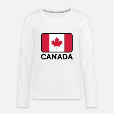 Canada Flag National Flag of Canada - Teenagers' Premium Longsleeve Shirt