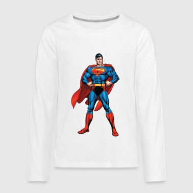 Superman Classic Pose Teenager Longsleeve - Teenager Premium shirt met lange mouwen
