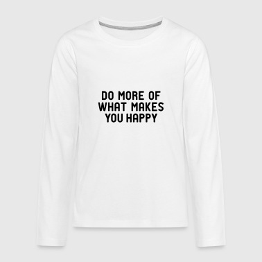 Do you like happy hygge? - Teenagers' Premium Longsleeve Shirt