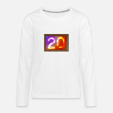 Date Of Birth Date of birth 20 years - image - Teenage Premium Longsleeve Shirt