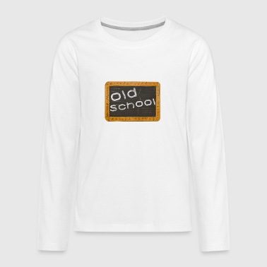 old school - Teenager Premium Langarmshirt