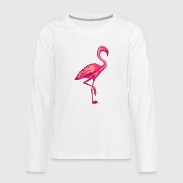 flamingo - Teenager Premium Langarmshirt