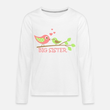 Sister Big Sister bird - Teenager Premium Langarmshirt