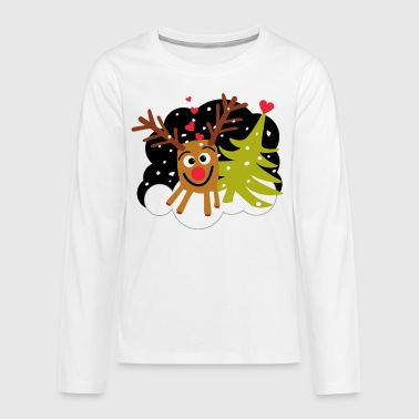 Rudolph and Tree - Teenager Premium shirt met lange mouwen