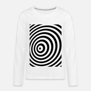 Minimum Minimum Geometry Illusion in Black & White(OP-Art) - Teenager premium T-shirt med lange ærmer