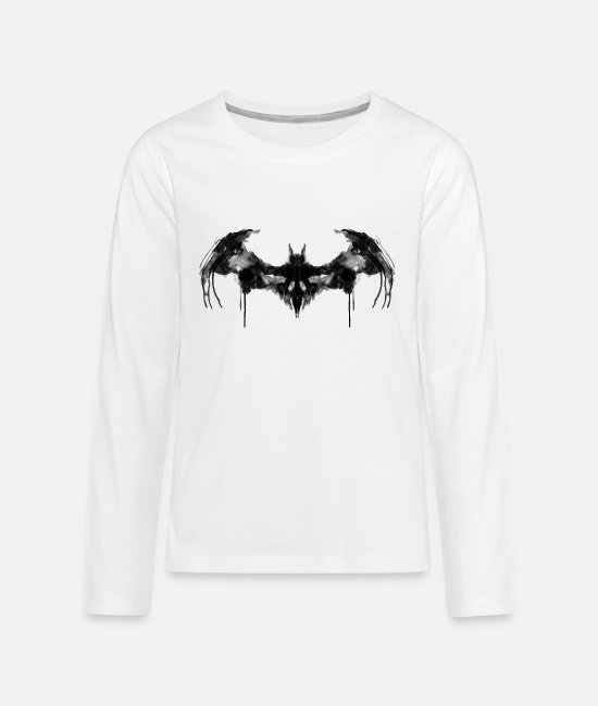 Superheroes Shirts met lange mouwen - Batman Logo Dark teenager T-shirt - Teenager premium longsleeve wit